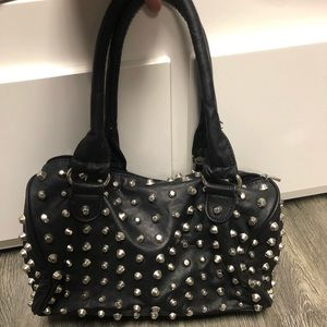 Aldo black studded purse